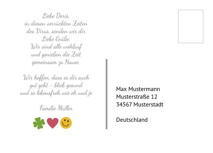 Ansicht 3 - Spruchkarte Gesundheit Liebe Lachen