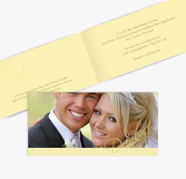 Hochzeit Dankeskarte Liebesbotschaft
