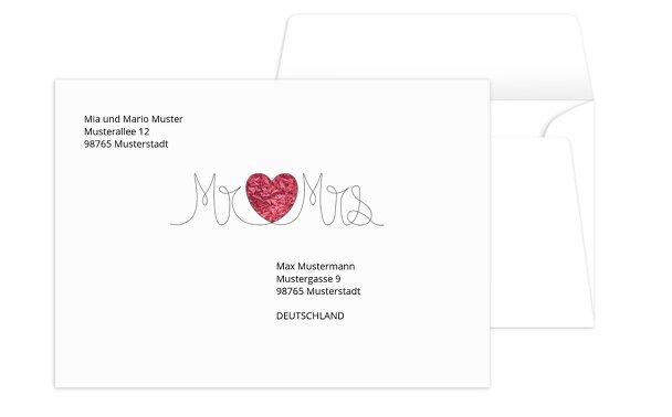 Umschlag Mr&Mrs