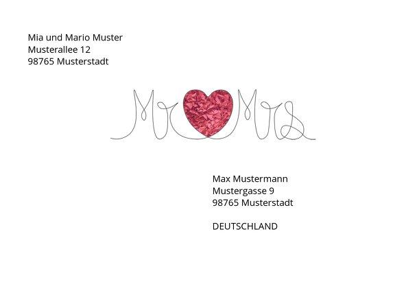 Ansicht 2 - Umschlag Mr&Mrs