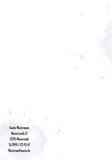 Ansicht 2 - Taufe Dankeskarte Origamischiff