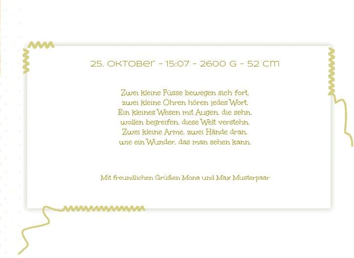 Ansicht 5 - Geburtskarte Pünktchen