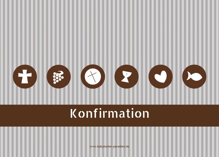Ansicht 2 - Konfirmation Einladung stripes-buttons