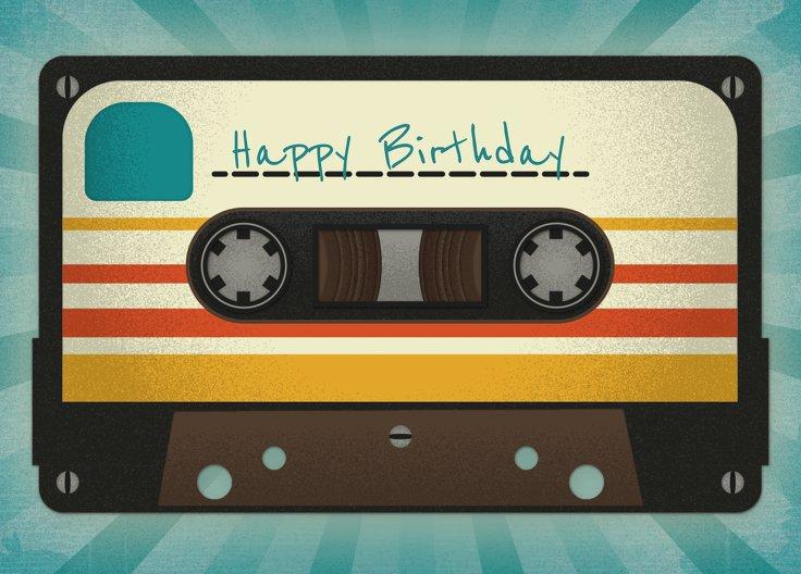 Ansicht 2 - Glückwunschkarte zum Geburtstag Kassette