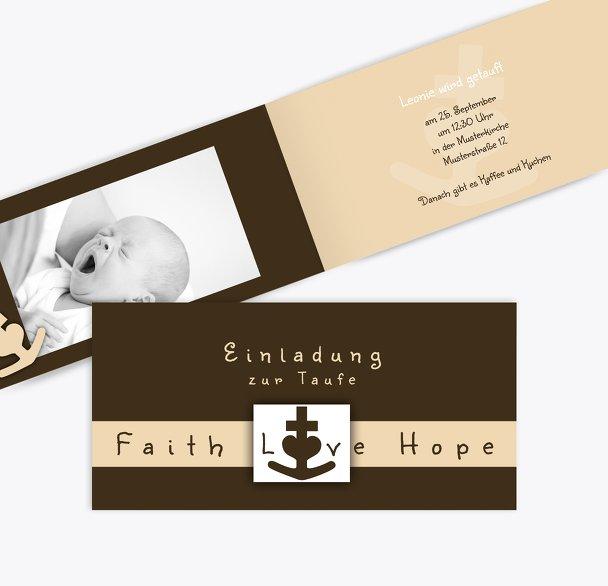 Taufe faith love hope
