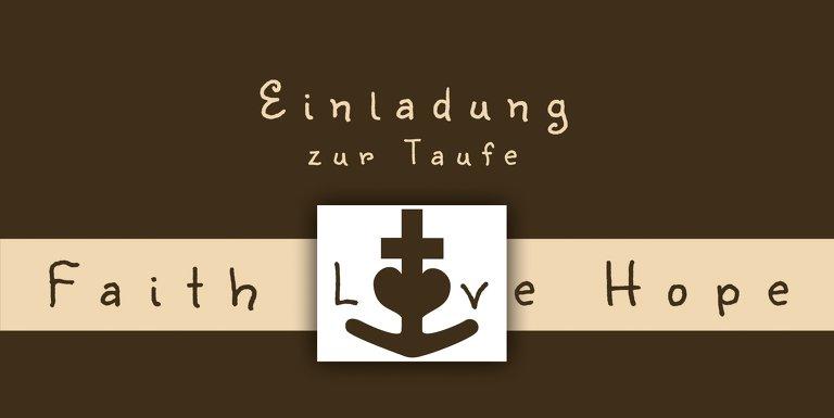 Ansicht 3 - Taufe faith love hope