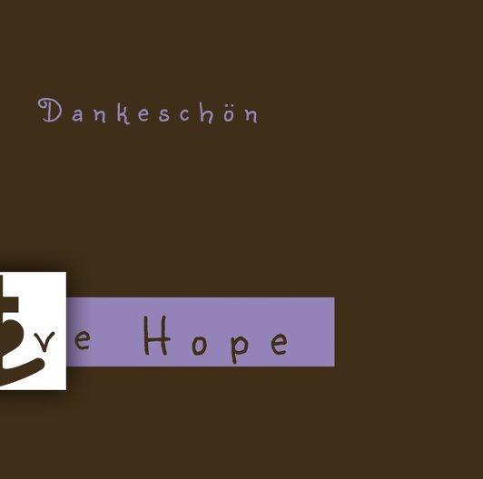 Ansicht 2 - Tauf Dankeskarte faith love hope