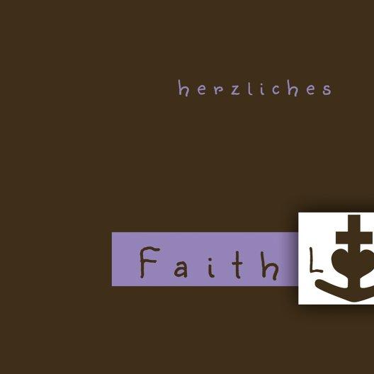 Ansicht 4 - Tauf Dankeskarte faith love hope