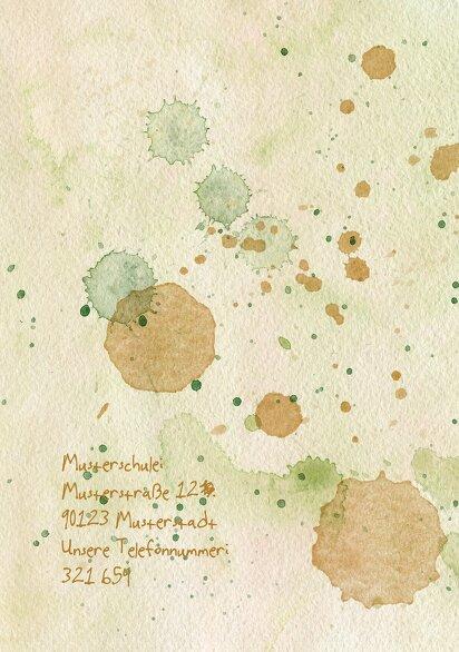 Ansicht 2 - Einladung Einschulung Farbkleckse