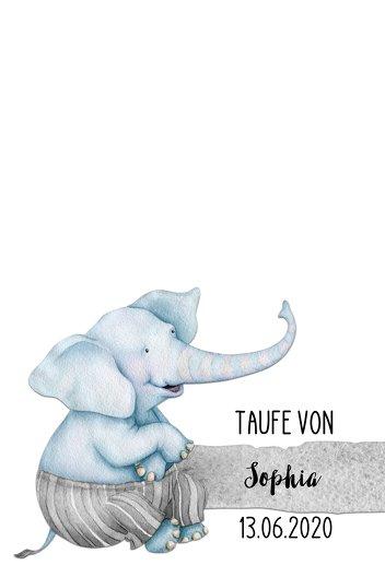Ansicht 2 - Fingerabdruck Leinwand Elefant
