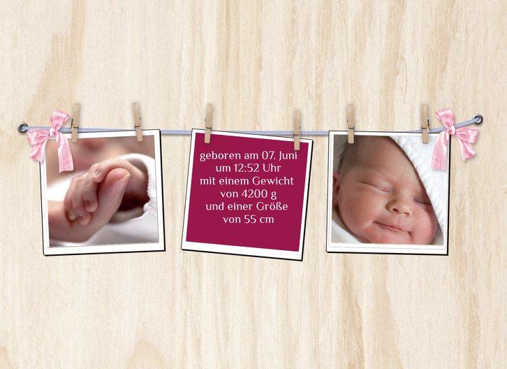 Ansicht 5 - Babykarte Schleife