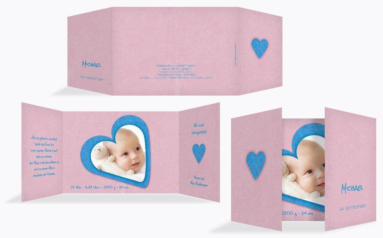 Geburtskarte Herzform