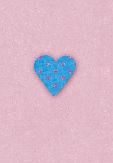 Ansicht 4 - Geburtskarte Herzform