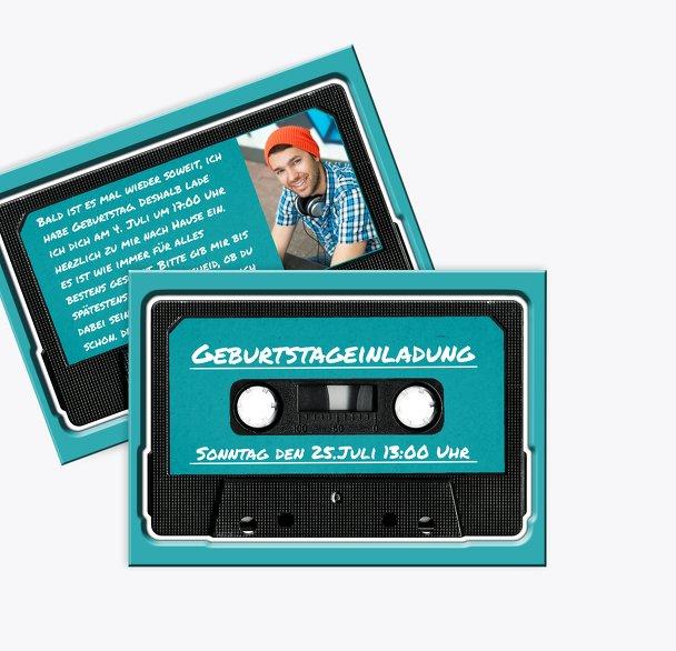 Einladungskarte für Jugendliche tape