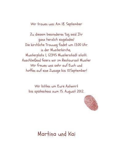 Ansicht 5 - Hochzeit Einladung fingerprint