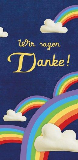 Ansicht 3 - Dankeskarte Regenbogenfantasie