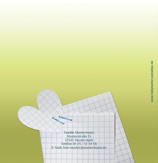 Ansicht 3 - Baby Dankeskarte Schnipp-Schnapp