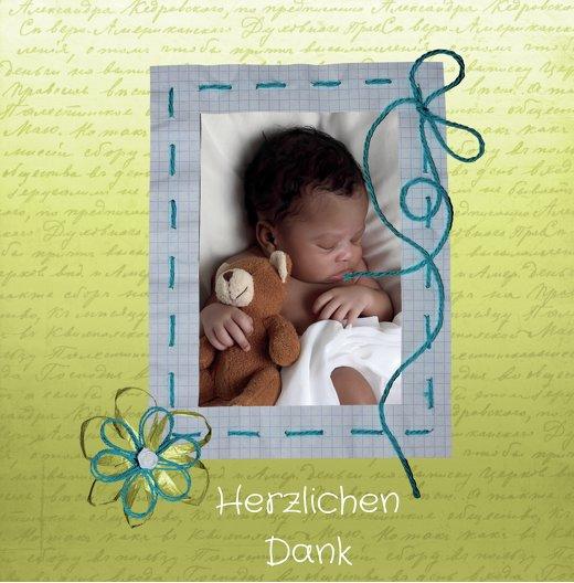 Ansicht 4 - Baby Dankeskarte Schnipp-Schnapp
