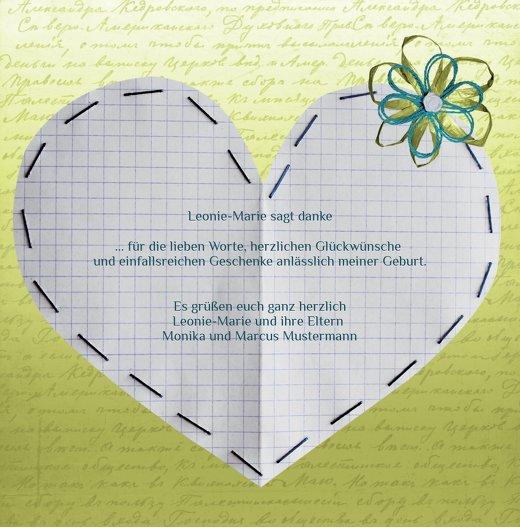 Ansicht 7 - Baby Dankeskarte Schnipp-Schnapp