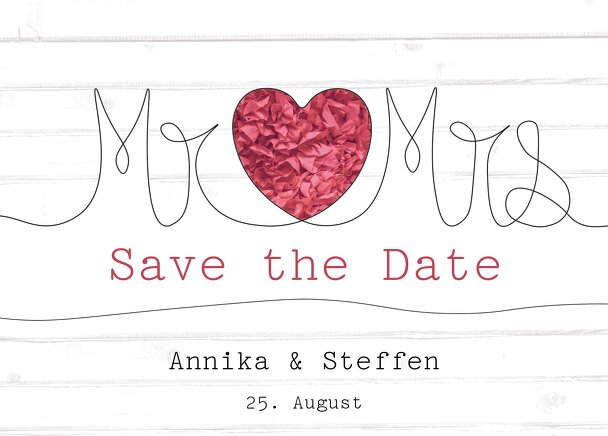 Ansicht 2 - Save-the-Date Mr&Mrs