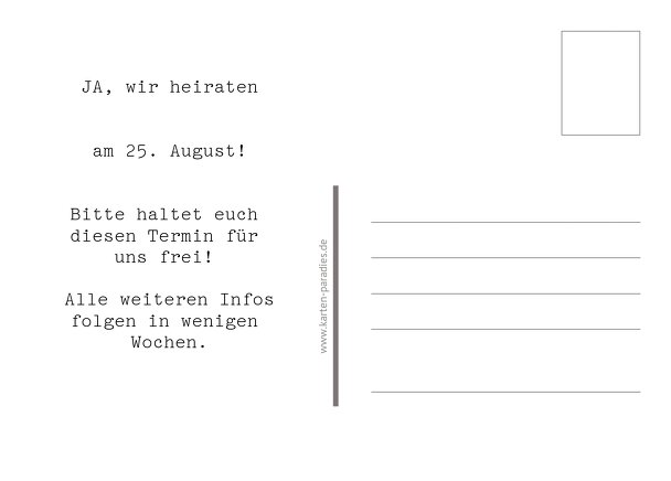 Ansicht 3 - Save-the-Date Mr&Mrs