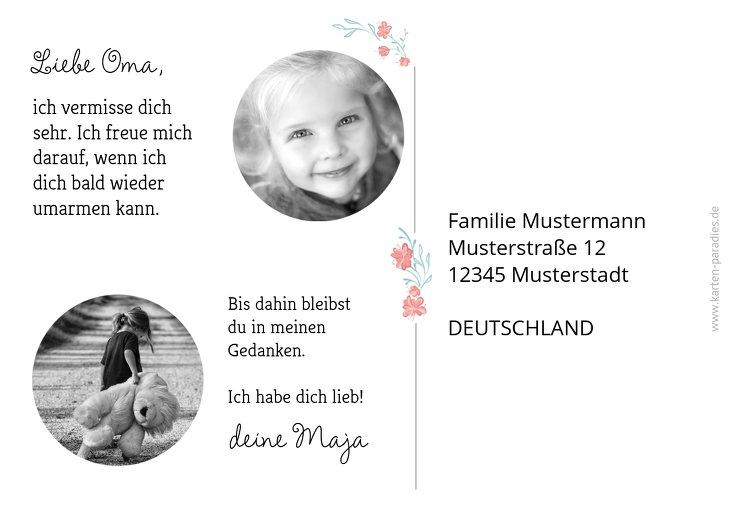 Ansicht 3 - Fotopostkarte Drücke Dich Kranz
