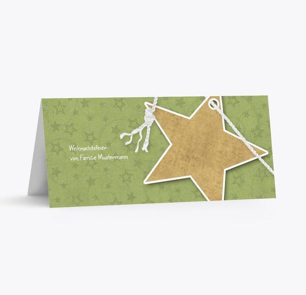 Tischkarte Sternenschnur