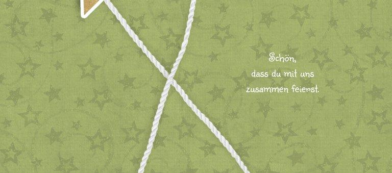 Ansicht 2 - Tischkarte Sternenschnur