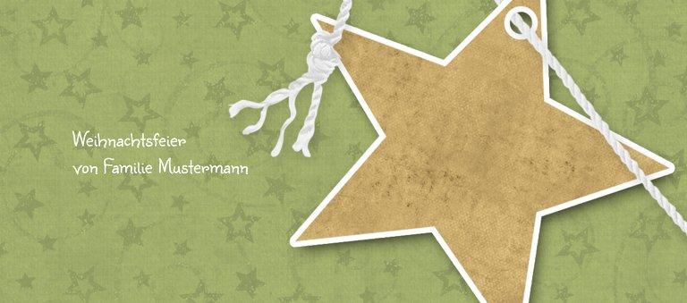 Ansicht 3 - Tischkarte Sternenschnur