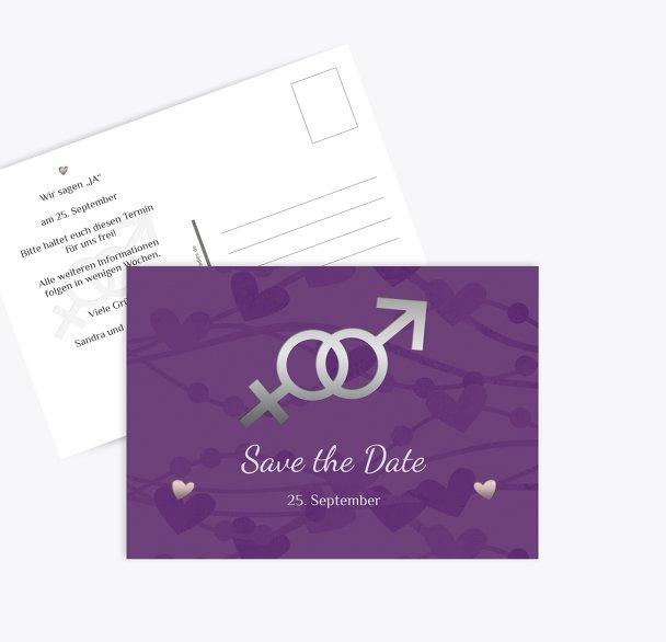 Save-the-Date Im Zeichen der Liebe