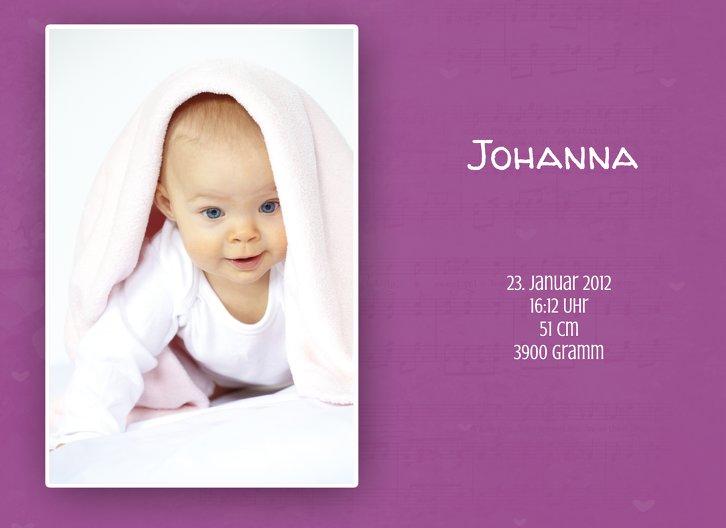 Ansicht 4 - Baby Dankeskarte It's a girl