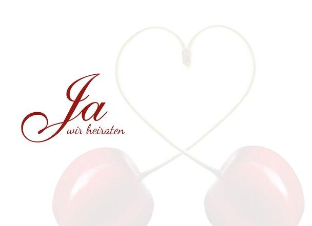 Ansicht 4 - Hochzeit Einladungskarte Kirsche