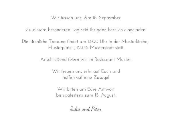 Ansicht 5 - Hochzeit Einladungskarte Kirsche