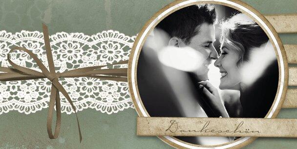 Ansicht 3 - Hochzeit Dankeskarte Vintage Lace
