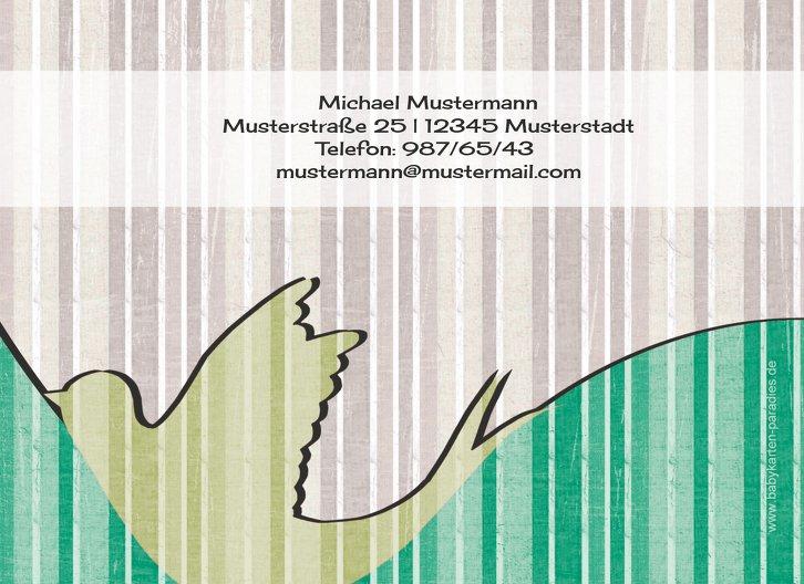 Ansicht 2 - Taufkarte Streifenharmonie