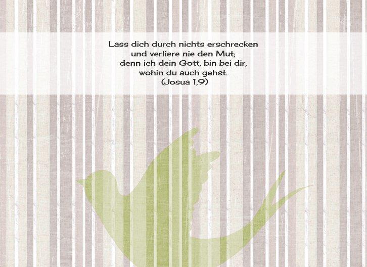 Ansicht 4 - Taufkarte Streifenharmonie