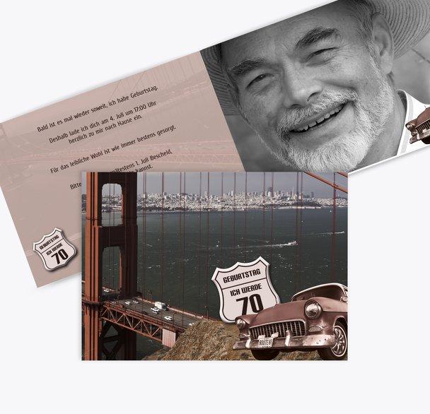Geburtstagskarte old bridge 70 Foto