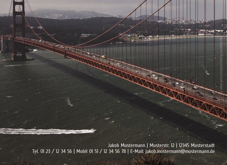 Ansicht 2 - Geburtstagskarte old bridge 70 Foto