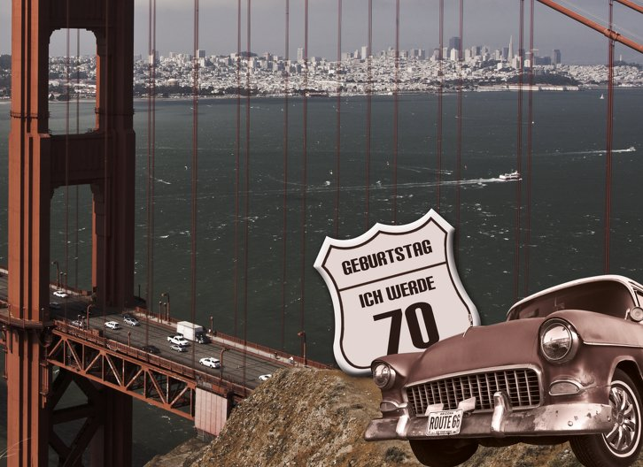 Ansicht 3 - Geburtstagskarte old bridge 70 Foto