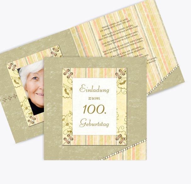 Geburtstagseinladung Nostalgie 100 Foto