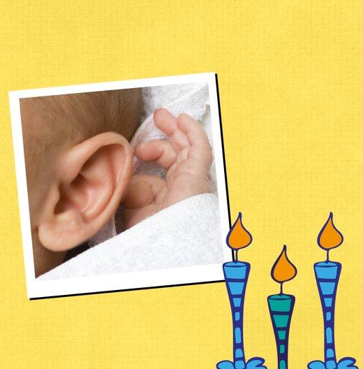 Ansicht 4 - Taufkarte Kerzen