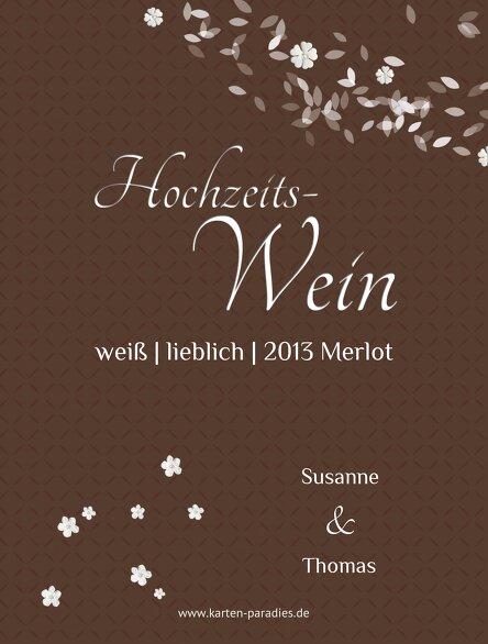 Ansicht 2 - Hochzeit Flaschenetikett romantic flower