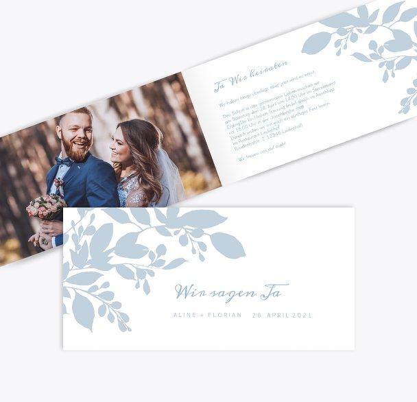 Hochzeit Einladung Blauregen