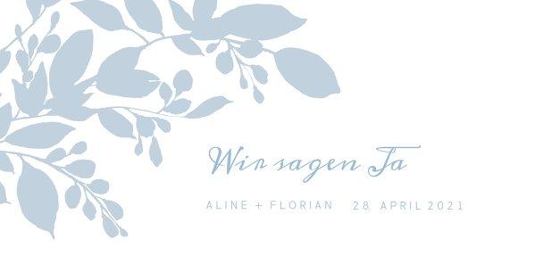 Ansicht 3 - Hochzeit Einladung Blauregen