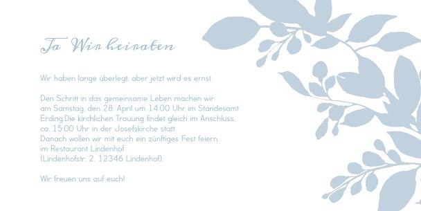 Ansicht 5 - Hochzeit Einladung Blauregen