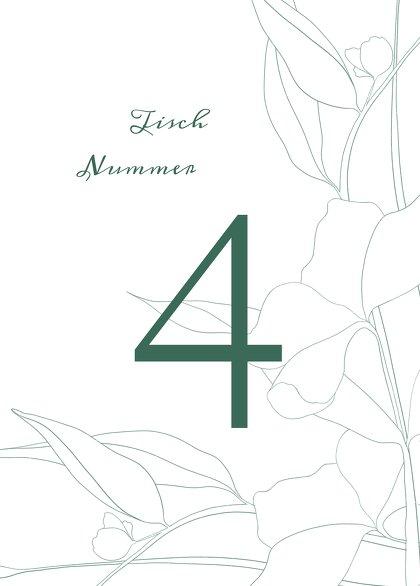 Ansicht 2 - Tischnummern Hochzeit Zahrte Blume