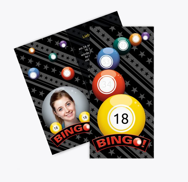 Einladung zum Geburtstag Bingo 18 Foto
