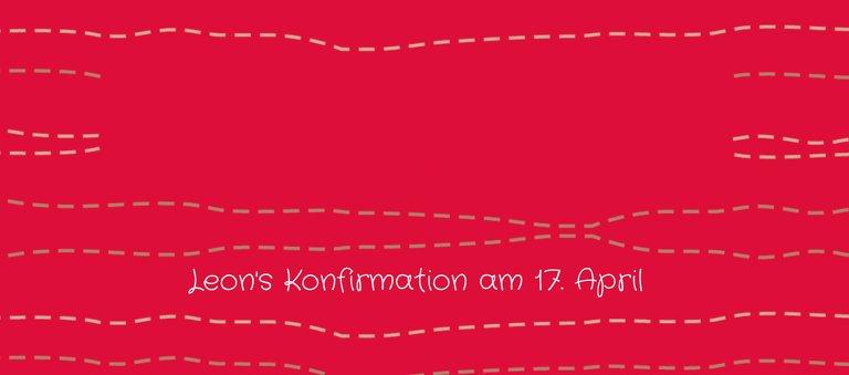 Ansicht 3 - Konfirmation Tischkarte Wellen Kreuz