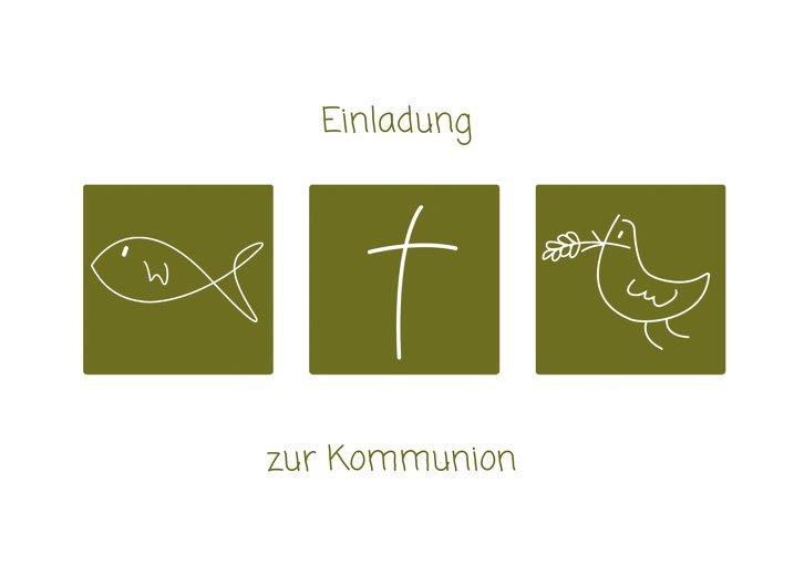 Ansicht 3 - Kommunionskarte Triple