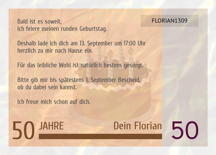 Ansicht 3 - Einladungskarte Geldschein 50